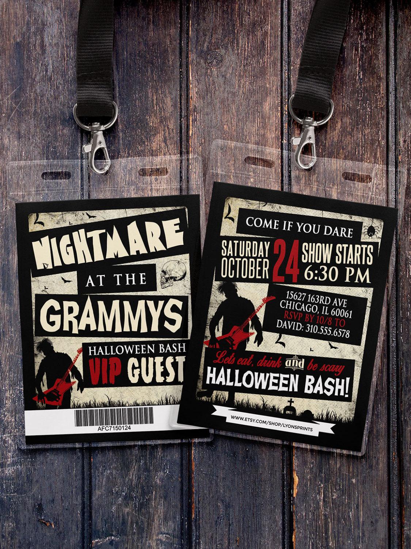 Grammy awards, Freak show, Halloween invite, Halloween party ...