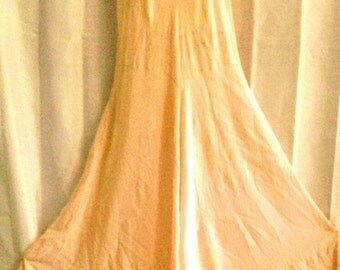 Vintage  1940's Style Peachy Night Gown/Lingerie
