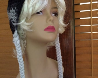 Dallas Cowboys Colors Beanie with Braids!
