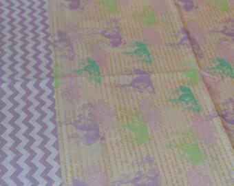 Lavender Bunny Pillowcase