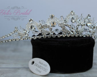 FAST Shipping!! Swarovski Tiara, Quinceanera Tiara, CrystalTiara ,Wedding Tiara ,Crown, Bridal Tiara, Crystal Headpiece