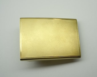 Vintage Simmons 12K GF Gold Filled Satin Finish Belt Buckle