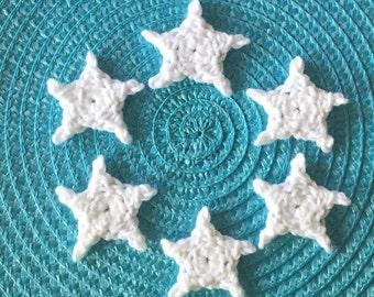 Pick Your Color! 6 Small Crochet Stars | Crochet Mini Stars | Tiny Crochet Stars | Crochet Star Appliqués