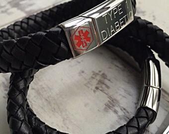 Medical Alert Bracelet - Personalized ID Bracelet - Medical Alert Bracelet -