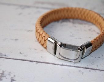 ID Bracelet - Men's ID Bracelet - Men's Leather Bracelet - Men's Jewelry