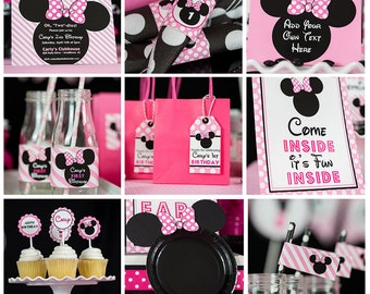 Minnie Mouse Party Decorations INSTANT DOWNLOAD - Minnie Mouse Birthday Party by Printable Studio