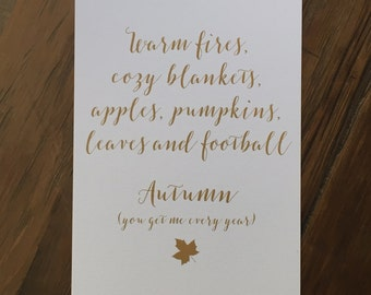 Autumn- Seasons Art Print