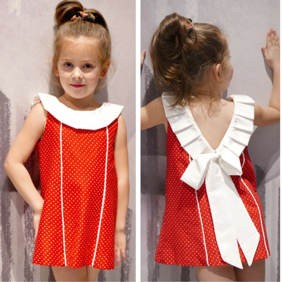 Bow Dress Pattern PDF for Girls : Toddler Dress Pattern Cute Baby Dress Girl Dress sewing