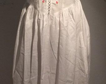 70s Style Corset Peasant Dress