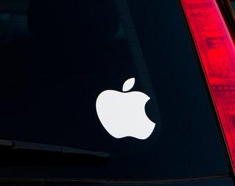 Apple Logo Car Decal Vinyl Sticker FREE SHIPPING Mac Macintosh Steve Jobs