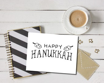 Hanukkah Card - Hanukkah Greeting Card, Hanukkah Card PDF, Digital Hanukkah Greeting Card, Printable Hanukkah Card, Holiday Card PDF, Jewish