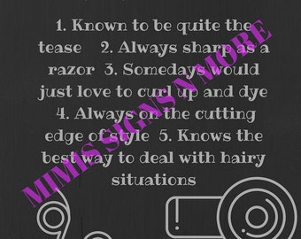 Printable Hairstylist Definition Download- Print and Frame for your favorite stylist today!