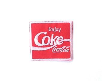 Coke Coca Cola Iron on Patch Size 6.9 x 6.9 cm
