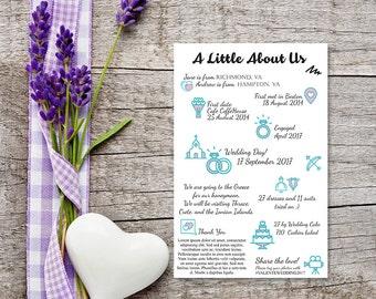 Wedding Infographics, Printable Custom Info Graphic,
