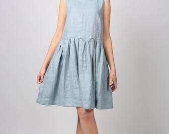 Linen Dress / Loose linen dress / Linen tunic /  Linen tunic dress / summer dress / women's clothing / Empire style clothing
