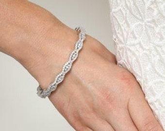 Crystal Bracelet, Wedding Bracelet,Bridal Bracelet, Bangle Bracelet, Wedding Jewelry, Bridal Bangle, Oprita Crystal Bracelet, IN STOCK