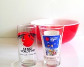 1982 World's Fair Glasses Mcdonald's Wendy's Promotionals