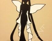 Sailor Moon Dual Color Die Cut Vinyl Decal Sticker *Neo Queen Serenity* Iphone, Ipad, Laptop, Mirror, Car, Windows, etc