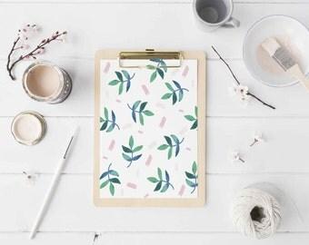 Leaves Print, Leaf Poster, Plant Print, Botanical Print, Wall Art, Wall Decor, Botanical Art, Green Wall Art, Green Decor, Home Decor.