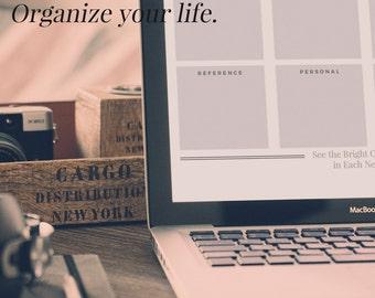 Desktop Organizer, Business Workflow Wallpaper, Digital Desktop Background, Minimal Workflow Wallpaper, Business Desktop Screen Organizer
