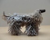 Hand Knitted Afghan Hound - Mini Dog - Knitted shaggy dog - Knitted Afghan Hound Model - Miniature Pet Dog