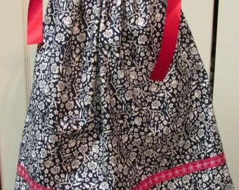 Red White and Blue Pillowcase Dress - Size 12 to 18 months - Ready to Ship