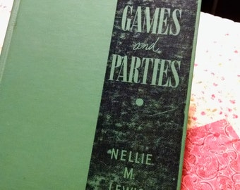 RARE Vintage Book More Games and Parties from 1951