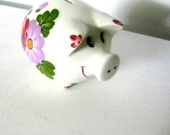 Vintage german piggy bank piggy Germany ceramic collectibles savings jar mini safe Germany kind handpainted ceramic money box Bank