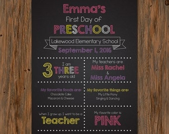 Personalized First/Last Day of School Printable Sign