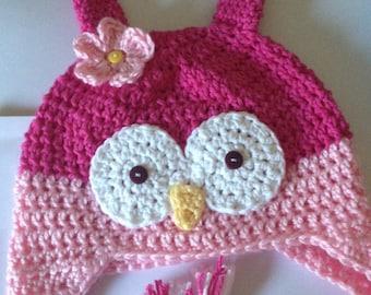 Owl hat,crochet owl hat,  toddler owl hat, baby photo prop, girl winter hat,