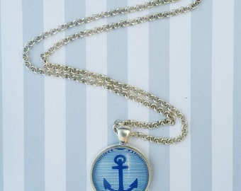 Anchor necklace, nautical necklace, nautical jewelry, beach jewelry, beach necklace, anchor jewelry, bronze necklace, silver necklace