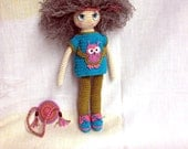 Crochet doll Crochet toy Gift for daughter Gift for girl Cute toys Amigurumi doll Toys and games Dolls Kids room