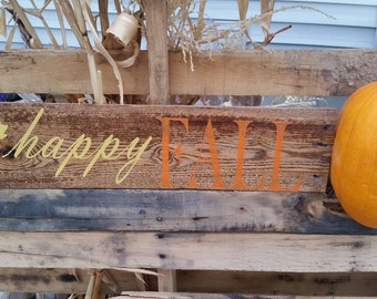 Happy Fall Pallet Sign