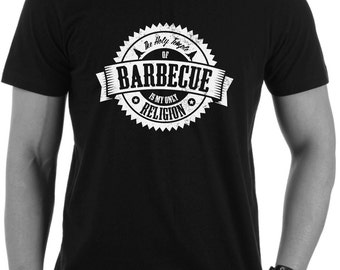 Barbecue Religion Men's Tee (Coal Black)