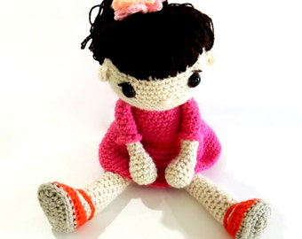Doll, Ready to Ship, Crochet Doll, Soft Toy