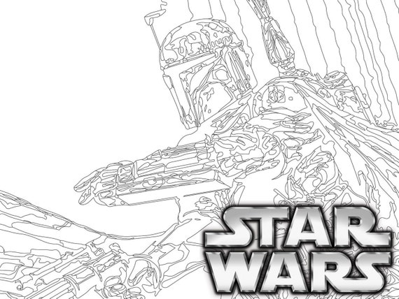 star - Star Wars Coloring Pages For Adults