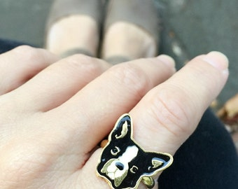 Doggie Ring, Dog Ring, Boston Terrier Ring, Bull Terrier Ring