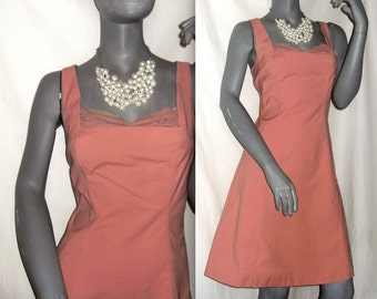 Tara Mauve/Dusty Pink Sleeveless Pinup Netted Bust Fit-Flare Dress 9