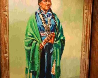 A-t'ed Ni-zo-nik (pretty girl) Navajo