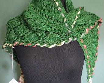 Green Lace Shwal