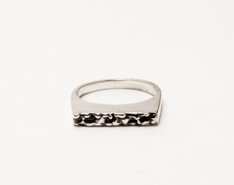 Textured Bar Ring