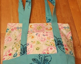 Gorgeous handmade floral purse or tote
