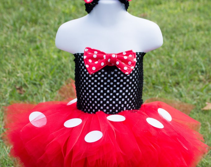 Mouse Halloween inspired Costume Tutu Girl Skirt Boutique Bows Clothing Baby Toddler Red Mouse Outfit