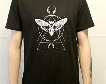 Moth Geometric Tattooo T-Shirt Handmade!