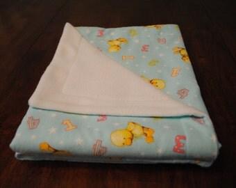 Baby Fleece and Flannel Blanket, Reversible Blanket, New Baby Blanket, Baby Shower Gift, Receiving Blanket