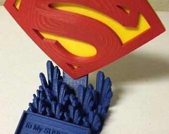 Custom Superman Super Birthday Trophy