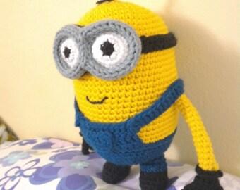 Free Printable Minion Crochet Patterns : Crochet minion Etsy