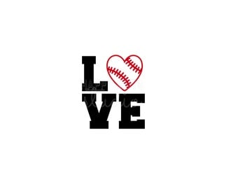 Baseball LOVE  Mom Dad Brother Sister Sport Matching Family Team Support Pick Your Team Colors Iron On Decal Vinyl for Shirt 243