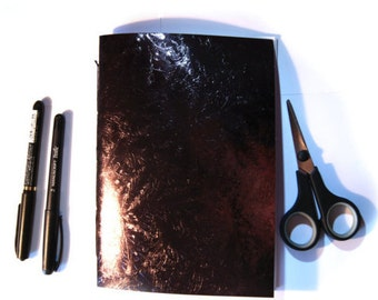 Book 15 x 21 cm Shiny Textured (24 pages) Brown flowers - LaPaperette