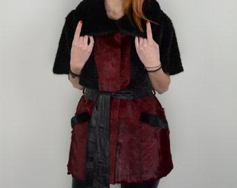 Real fur vest swakara fur with muskrat